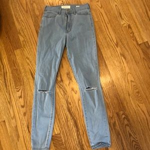 PacSun light wash super hi rise jegging sz 23S